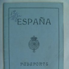 Documentos antiguos: PASAPORTE DE ESPAÑA DE LA EPOCA DE ALFONSO XIII , DE UN SEÑOR CONDE. SEVILLA, 1921. VIÑETA, ETC. Lote 231835720