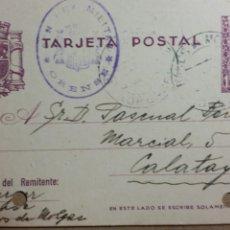 Documentos antiguos: TARJETA POSTAL CENSURA MILITAR DE ORENSE AÑO 1938. Lote 234140530