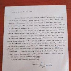 Documentos antiguos: CARTA MECANOGRAFIADA FIRMADA POR AZORÍN. Lote 234673615