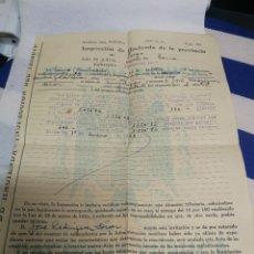 Documentos antiguos: ACTA DE LA INSPECCION DE HACIENDA DE LUGO A UN PARTICULAR - 1952 VALOR FINCAS Y GANADO. Lote 234778515