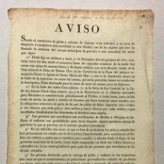 Documentos antiguos: BARCELONA, AYUNTAMIENTO. AVISO SOBRE SUMINISTRO DE PIELES Y REDAÑOS DE CARNERO A LOS ENFERMOS. Lote 234848790