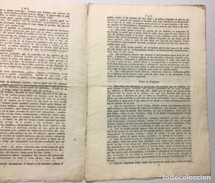 Documentos antiguos: BARCELONA, GOBIERNO MILITAR Y POLÍTICO. [EDICTO]. DON FRANCISCO DE COPONS ... Interesando muchísimo - Foto 2 - 234851035
