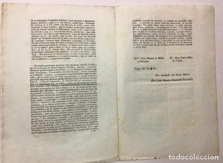Documentos antiguos: BARCELONA, GOBIERNO MILITAR Y POLÍTICO. [EDICTO]. DON FRANCISCO DE COPONS ... Interesando muchísimo - Foto 3 - 234851035