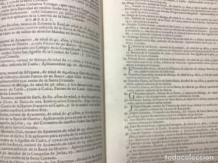 Documentos antiguos: MERCED, ORDEN DE LA. MEMORIA DE LOS CAUTIVOS CHRISTIANOS, QUE LAS PROVINCIAS DE CASTILLA, Y ANDALUCI - Foto 2 - 234853075