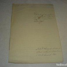 Documentos antiguos: ESCRITURA DE CARTA DE PAGO ANTE FERNANDO MORAGAS, NOTARIO EN 1866.. Lote 235016955