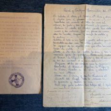 Documentos antiguos: CURIOSO LOTE DE DOCUMENTOS HISTÓRICOS DE LA SEMANA SANTA DE GRANADA. Lote 235160025