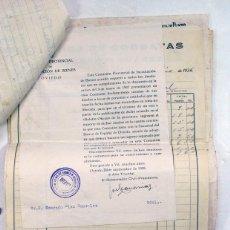 Documentos antiguos: BOAL. ASTURIAS. COMISION PROVINCIAL DE BIENES INCAUTADOS. GUERRA CIVIL. CONJUNTO DE 11 DOCUMENTOS. Lote 236172625