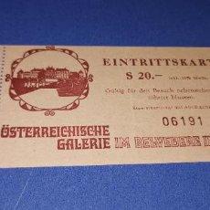 Documentos antiguos: ENTRADA ANTIGUA DEL MUSEO AMBROSI VIENA (AUSTRIA). Lote 236223125