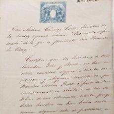 """Documentos antiguos: DOCUMENTOS SOCIEDAD MINERA """"FUENSANTA REFORMADA"""", """"LA ESPAÑOLA"""" Y """"VULCANO"""", JUAN DE LA CIERVA. 1865. Lote 236411420"""