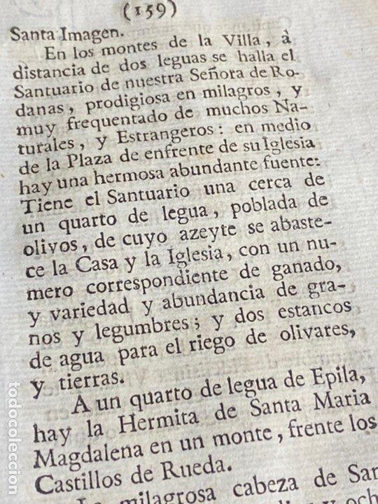 Documentos antiguos: DESCRIPCIÓN DE ÉPILA DEL AÑO 1779. IMPRESO ORIGINAL. - Foto 4 - 238838090