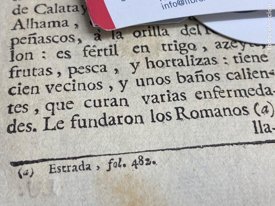 Documentos antiguos: DESCRIPCIÓN DE ALHAMA DE ARAGÓN DEL AÑO 1779. IMPRESO ORIGINAL. - Foto 2 - 238840445