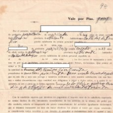 Documentos antiguos: VALE POR 250 PESETAS - RECONOCIMIENTO DE DEUDA - AÑO 1930 - MONÓVAR - CAÑADAS DE DON CIRO. Lote 239672845