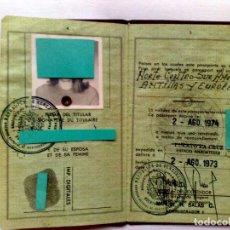 Documentos antiguos: PASAPORTE VENEZUELA,EXPEDIDO 1973 (COMPL.40 PAG.) VISAS,PRORROGAS,VIÑETAS CONSULARES (VER DESCRIPCIÓ. Lote 175369627