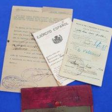 Documentos antiguos: CARTERA MILITAR ,CARTILLA MILITAR DE TROPA ,EJÉRCITO ESPAÑOL 1930. Lote 240696585