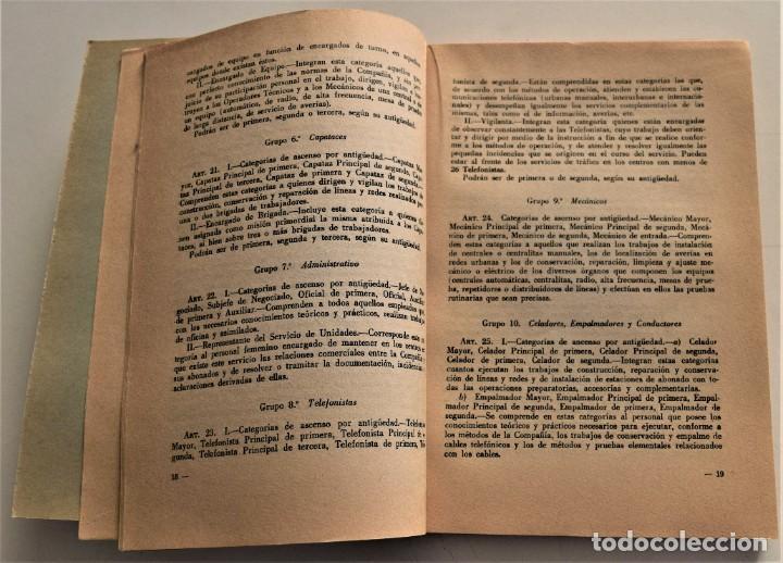 Documentos antiguos: TELEFÓNICA - REGLAMENTO NACIONAL DE TRABAJO Y REGLAMENTO DE RÉGIMEN INTERIOR - MADRID 1963 - Foto 5 - 240926850