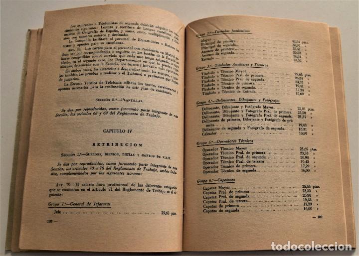 Documentos antiguos: TELEFÓNICA - REGLAMENTO NACIONAL DE TRABAJO Y REGLAMENTO DE RÉGIMEN INTERIOR - MADRID 1963 - Foto 7 - 240926850