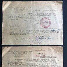 Documents Anciens: ALCAÑIZ ( TERUEL ) 1939 / CIRCULARES FALANGE ESPAÑOLA TRADICIONALISTA Y DE LAS J.O.N.S.. Lote 243401315