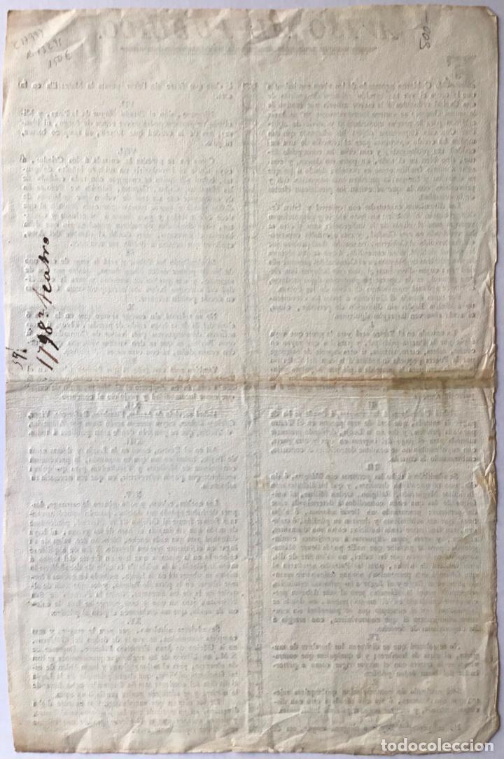 Documentos antiguos: AVISO AL PUBLICO. EL GOBIERNO PENETRADO DE LOS VIVOS SENTIMIENTOS QUE LE CAUSA EL VER TAN CRECIDO... - Foto 2 - 243569890