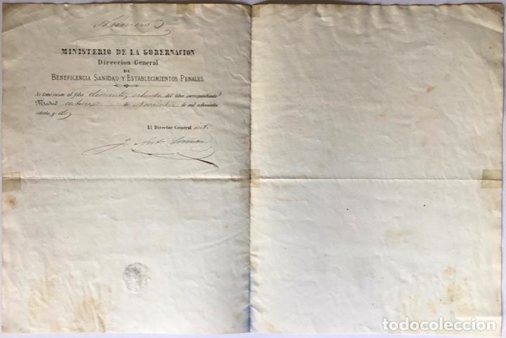 Documentos antiguos: EL MINISTRO DE LA GOBERNACIO DEL REINO POR CUANTO DON PABLO XANCO ALABERN SE HA HECHO DIGNO DE... - Foto 2 - 243577535