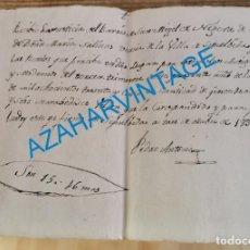 Documentos antiguos: SEPULVEDA, 1834, RECIBO COBRO RENTAS EN SAN MIGUEL DE NEGUERA. Lote 244522150