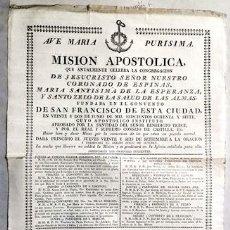 Documentos antiguos: PAPEL DOCUMENTO MISION APOSTOLICA ANUAL CONVENTO SAN FRANCISCO DE SEVILLA - DOCUMENTO-011. Lote 244523170