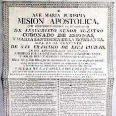 Documentos antiguos: PAPEL DOCUMENTO MISION APOSTOLICA ANUAL CONVENTO SAN FRANCISCO DE SEVILLA - DOCUMENTO-012. Lote 244523730