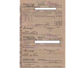 Documentos antiguos: AYUNTAMIENTO DE PINOSO - ALICANTE - 1942 - REPARTIMIENTO GENERAL. Lote 245201005