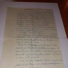 Documents Anciens: ANTIGUO DOCUMENTO DE ARRIENDO DE TIERRAS Y PASTOS ESCRITA A MANO FECHADA 31 MAYO 1931 MOSQUERUELA. Lote 245288970