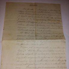 Documents Anciens: ANTIGUO DOCUMENTO DE ARRIENDO DE TIERRAS Y PASTOS ESCRITA A MANO FECHADA 31 MAYO 1931 MOSQUERUELA. Lote 245289210