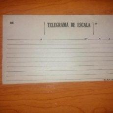 Documentos antiguos: TELEGRAMA DE ESCALA DEL CUERPO DE TELEGRAFOS MOD TG 3. Lote 245412420