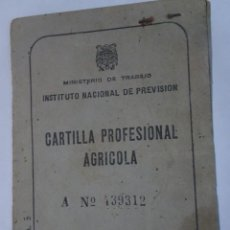 Documentos antiguos: ANTIGUA CARTILLA PROFESIONAL AGRÍCOLA, VÉLEZ MÁLAGA AÑOS 50, VER FOTOS. Lote 245619135