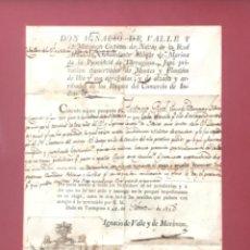 Documentos antiguos: SALVOCONDUCTO CAPITAN DE NAVÍO LA REAL ARMADA. TARRAGONA LA HABANA 1818.. Lote 246046095