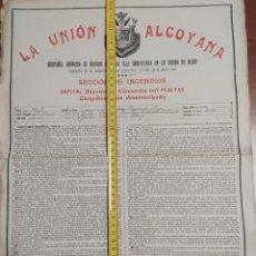 Documentos antiguos: LA UNIÓN ALCOYANA PÓLIZA DE SEGURO ANTIGUA 1910. Lote 246305580