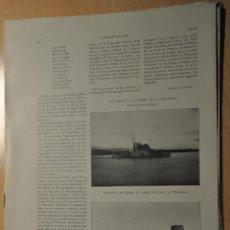 Documentos antiguos: HOJA REVISTA ANTIGUA LO VAPOR CIUTAT DE TORTOSA. Lote 247104535