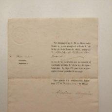 Documentos antiguos: NOMBRAMIENTO ALCALDE VILASSAR, (GOBERNADOR MELCHOR ORDOÑEZ), EPOCA ISABEL II, 1853. Lote 248231810