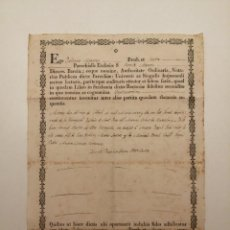 Documentos antiguos: ACTA DE NEIXAMENT, (SANT PERE DEL MASNOU), BARCELONA 1822. Lote 248232570