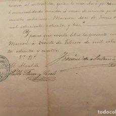 Documentos antiguos: CONTRATO ALQUILER PUESTO DEL MERCADO DE MASNOU, BARCELONA INVENTARIO 1883. Lote 248233400
