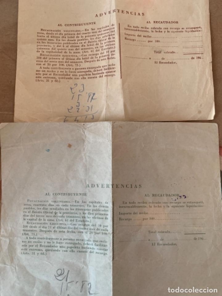 Documentos antiguos: 2 documentos de Contribución territorial, años 1963 y 1964 - Foto 2 - 249348520