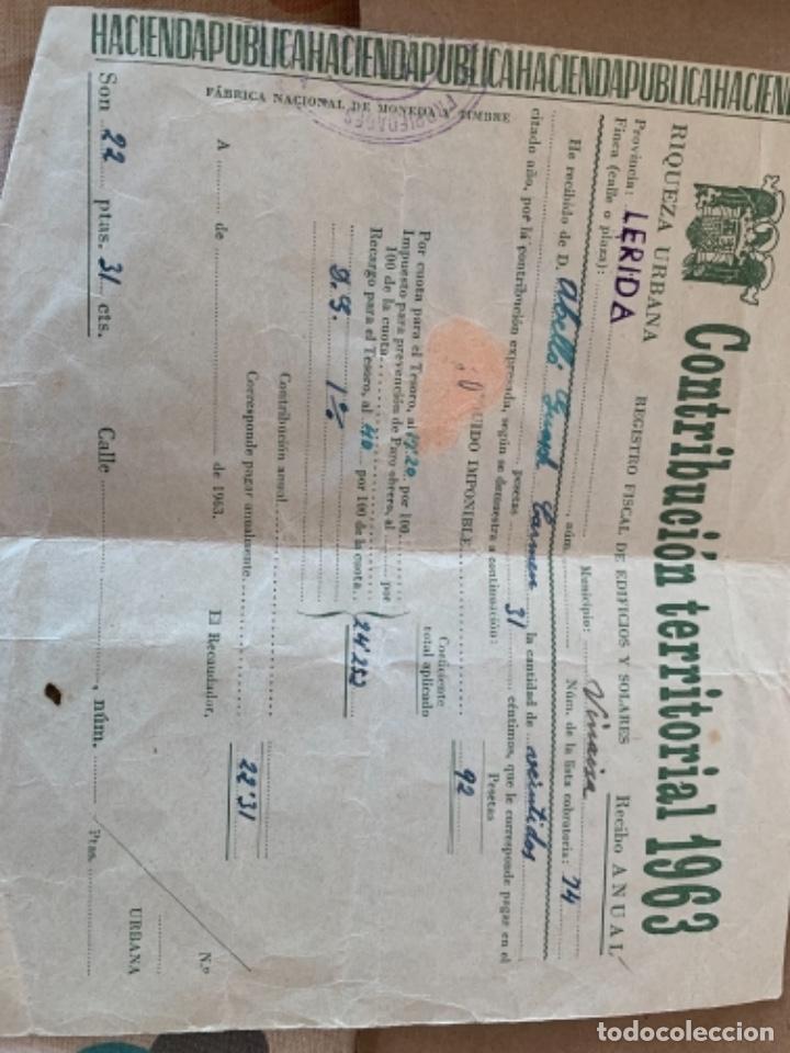 Documentos antiguos: 2 documentos de Contribución territorial, años 1963 y 1964 - Foto 4 - 249348520