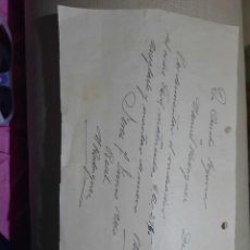 Documentos antiguos: RECIBO O VALE.DE AURELIO SEGOVIA A MANUEN RODRIGUEZ.1940. Lote 251088065