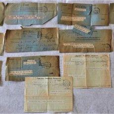 Documentos antiguos: LOTE 13 TELEGRAMAS DIRIGIDOS AL BARÓN DE CÁRCER EN LOS AÑOS 60 - 3 DE ELLOS EXTRANJEROS. Lote 252321910