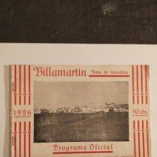 Documentos antiguos: FERIA DE GANADO BILLA MARTÍN. Lote 252400220