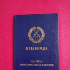 Documentos antiguos: PASAPORTE DE LA REPUBLICA DEMOCRÁTICA DE ALEMANIA DDR 1988 PASSPORT, PASSEPORT, REISEPASS. Lote 252409425