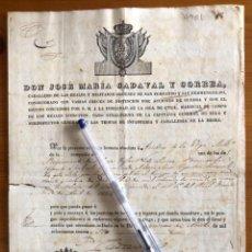 Documents Anciens: BRECEÑA- VILLAVICIOSA- ASTURIAS- ANDRES DE LA VEGA- LA HABANA 1836. Lote 253682935