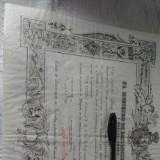 Documentos antiguos: TRES TÍTULOS DE LA MISMA PERSONA, BACHILLER 1905, DERECHO 1912 Y SECRETARIO ADMON LOCAL 1935. Lote 254036960