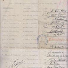 Documents Anciens: CURIOSO DOCUMENTO GUERRA CIVIL EN CATALUÑA. GRATIFICACIONES AGOSTO 1938. ESPÍAS. Lote 254092410