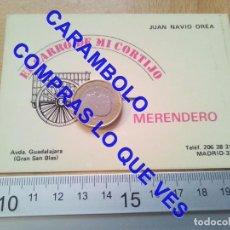 Documentos antiguos: EL CARRO DE MI CORTIJO MERENDERO MADRID TARJETA JUAN NAVIO OREA C71. Lote 254509330