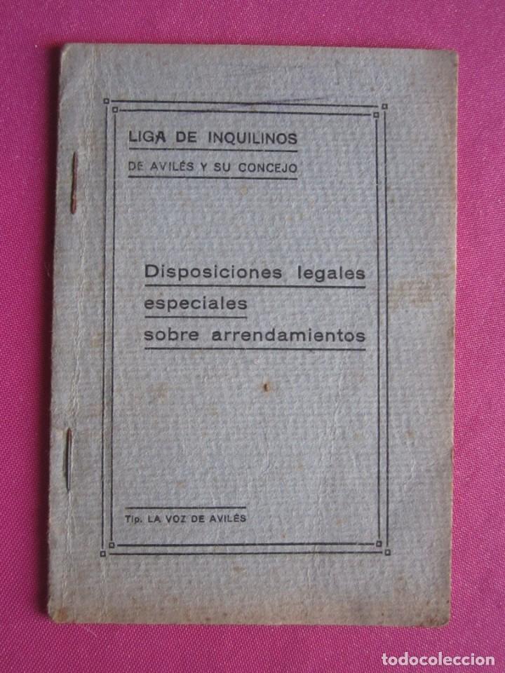 LIGA DE INQUILINOS DE AVILES Y SU CONCEJO FIRMADO LA VOZ DE AVILES 1920 , (Coleccionismo - Documentos - Otros documentos)