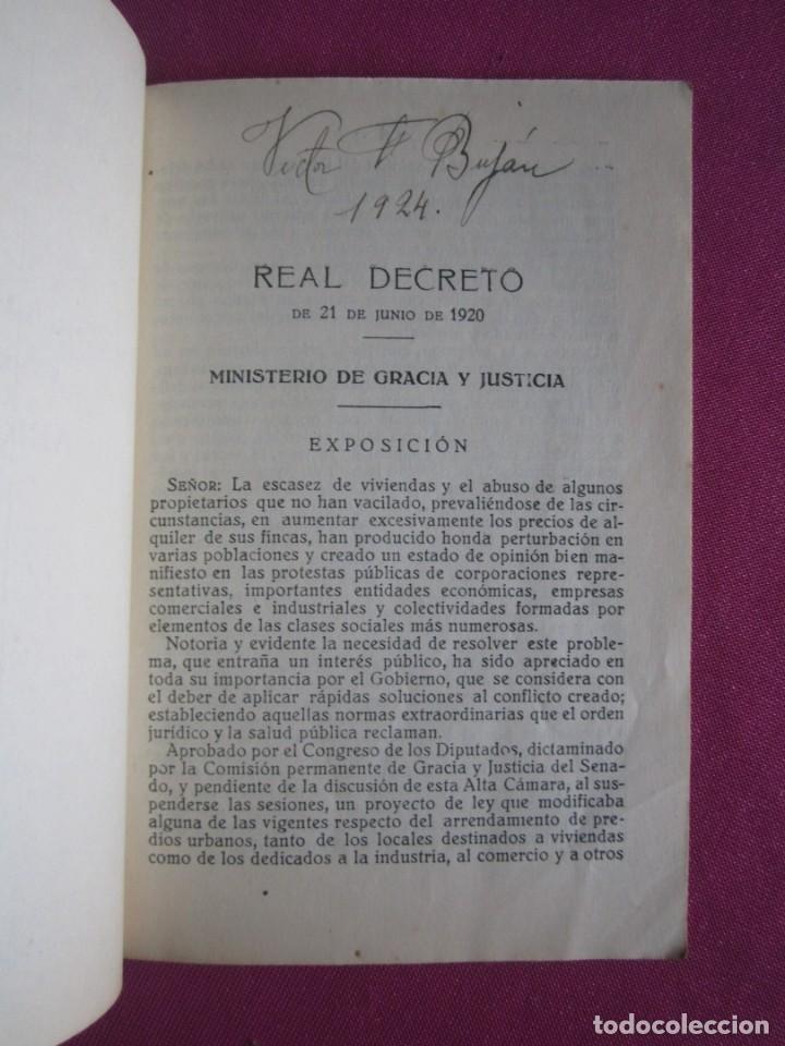 Documentos antiguos: LIGA DE INQUILINOS DE AVILES Y SU CONCEJO FIRMADO LA VOZ DE AVILES 1920 , - Foto 3 - 254615810