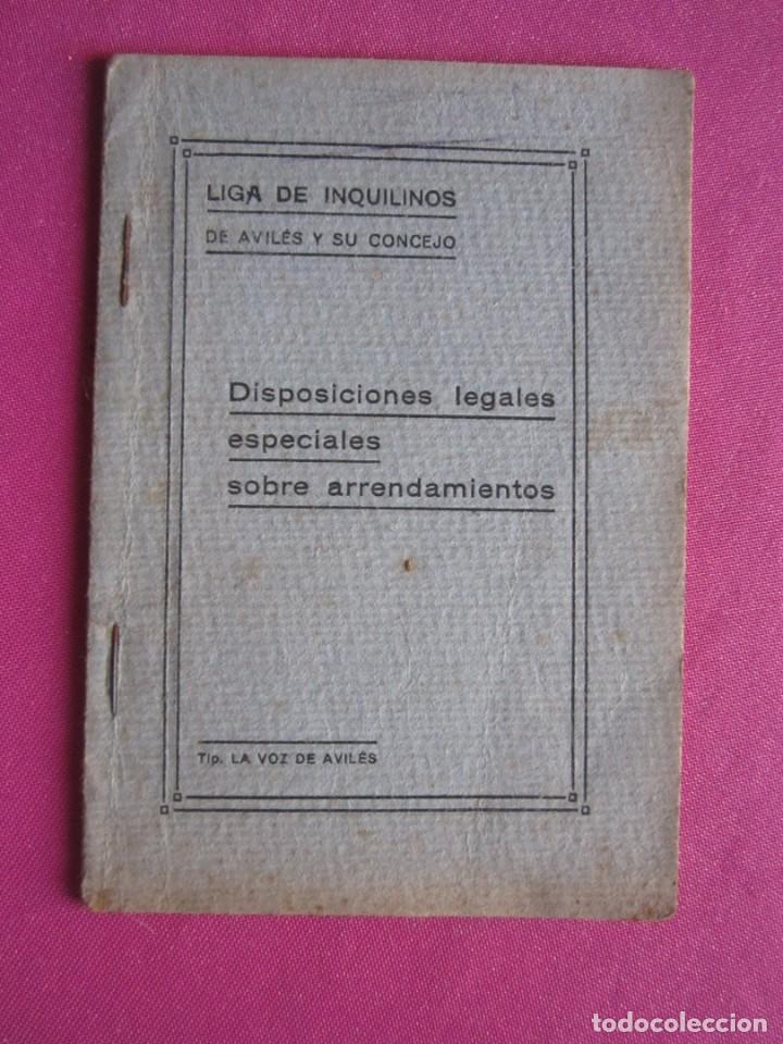 Documentos antiguos: LIGA DE INQUILINOS DE AVILES Y SU CONCEJO FIRMADO LA VOZ DE AVILES 1920 , - Foto 7 - 254615810